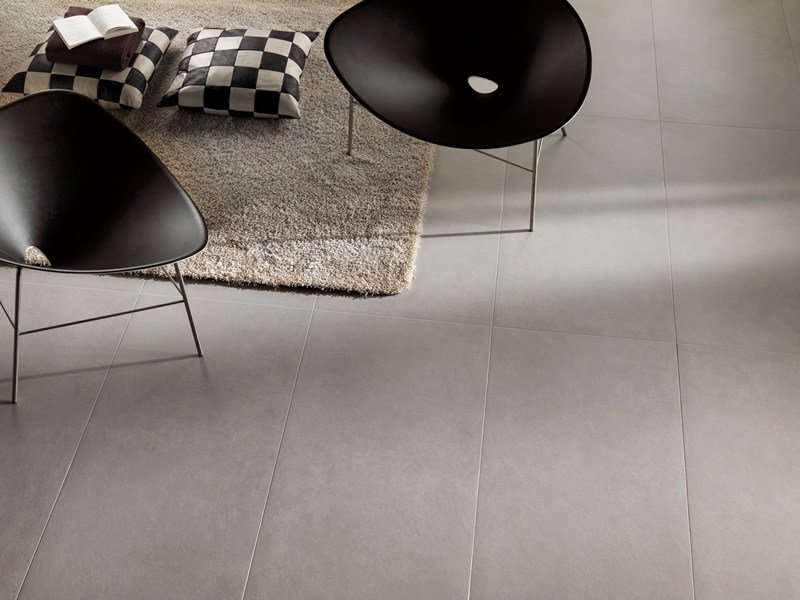Antibacterial porcelain stoneware wall/floor tiles SILVER GROUND ACTIVE - GranitiFiandre