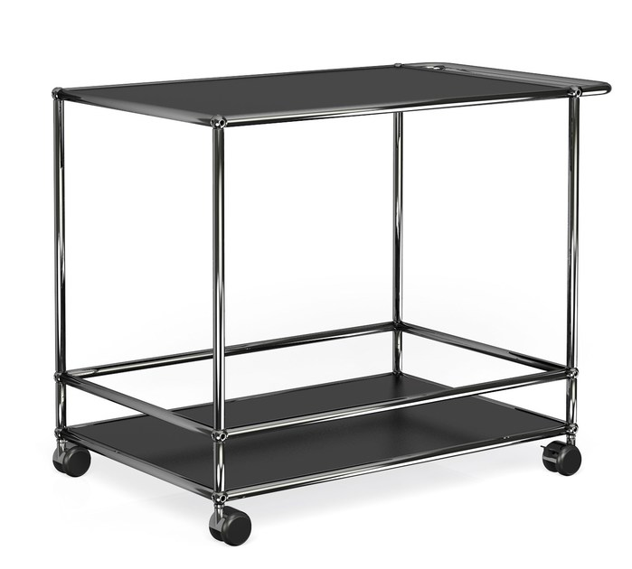 Metal Trolley USM HALLER CONFERENCE ROOM SERVING CART | Steel Trolley - USM Modular Furniture