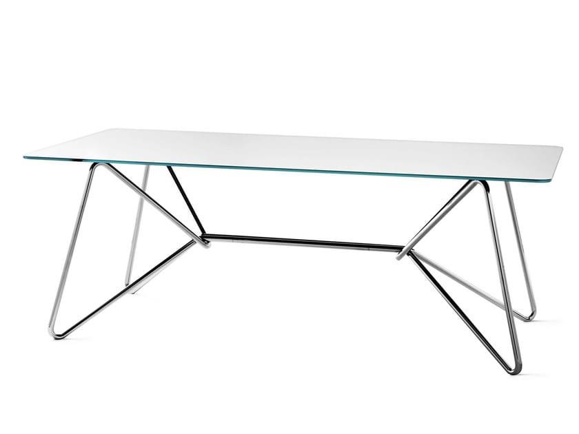 Rectangular table with mirrored glass top BOAVISTA | Mirrored glass table - Varaschin