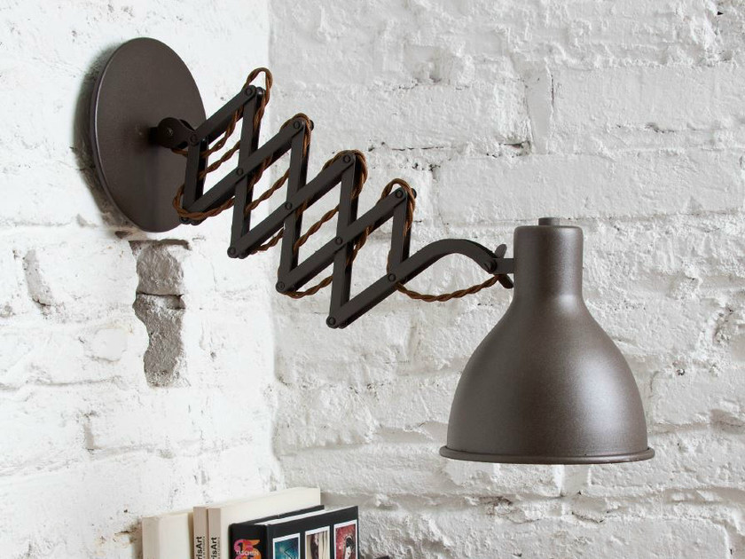 Metal wall lamp with swing arm OXFORD - luxcambra