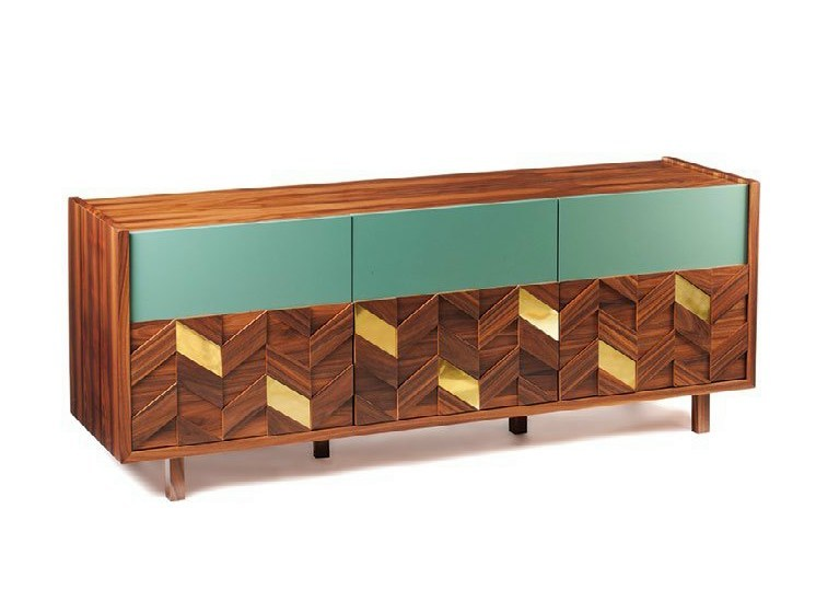 Lacquered sideboard with doors SAMOA | Sideboard - Mambo Unlimited Ideas