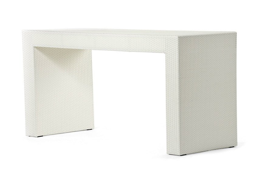 Bar table with synthetic fiber weaving CORA | High table - Varaschin