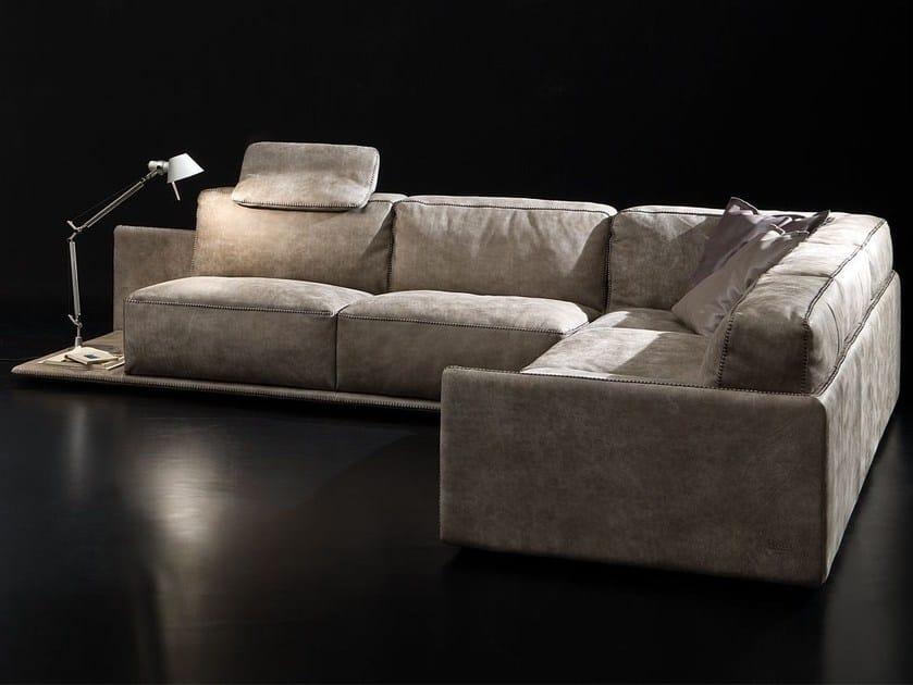 Leather sofa BORDER - ITALY DREAM DESIGN - Kallisté