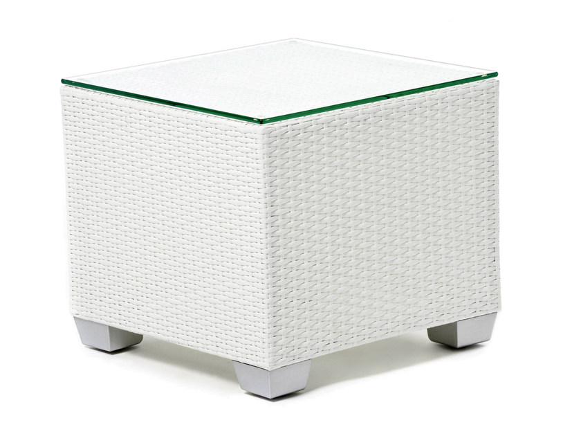 Square coffee table with synthetic fiber weaving GIADA | Square coffee table - Varaschin