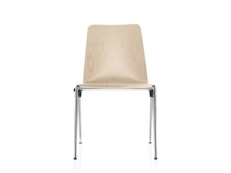 Stackable beech reception chair HERO | Stackable chair - Brunner