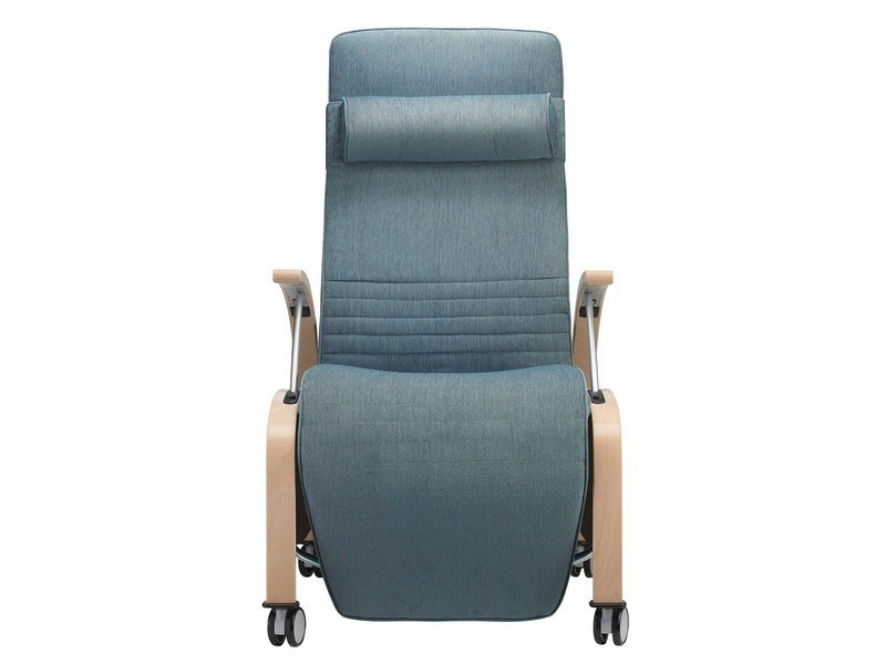 Upholstered recliner armchair with casters TORRAS - Brunner