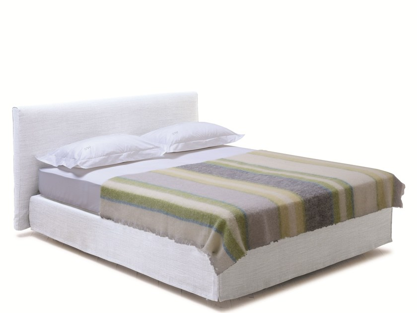 Double bed with upholstered headboard SAVOY 21 + CHILL - H by Schramm Werkstätten