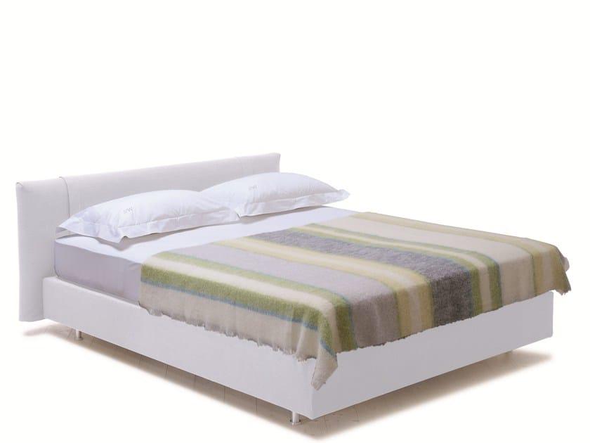 Double bed with upholstered headboard SAVOY 21 + Relax - H - Schramm Werkstätten