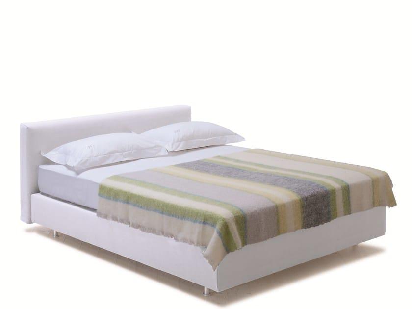 Double bed with upholstered headboard SAVOY + CUBE - H - Schramm Werkstätten