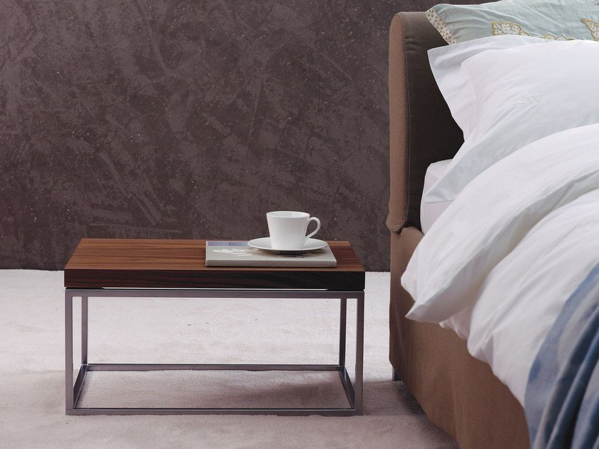Lacquered wooden bedside table with drawers BT 30.0 by Schramm Werkstätten