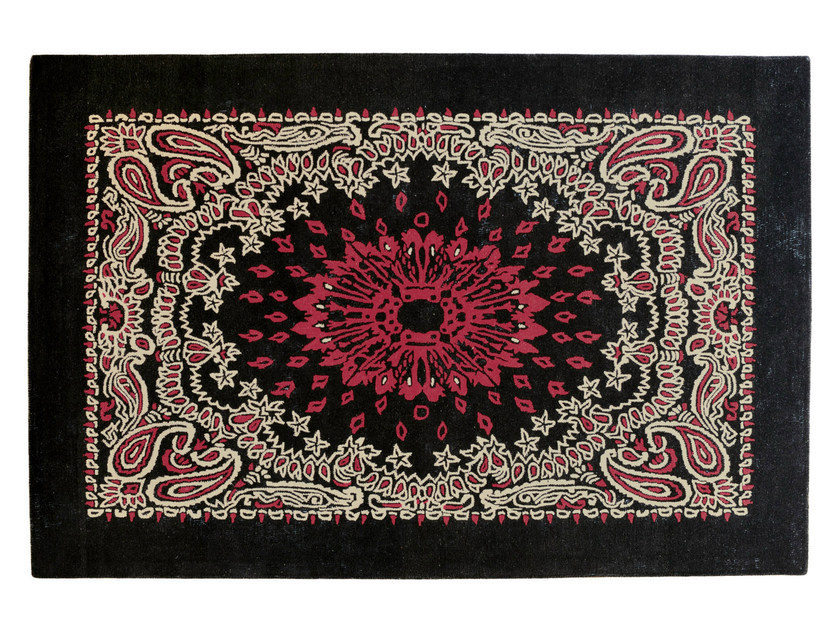 Rectangular wool rug BANDANA - Toulemonde Bochart