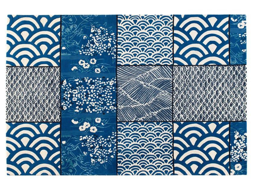 Patchwork rectangular wool rug OSAKA - Toulemonde Bochart