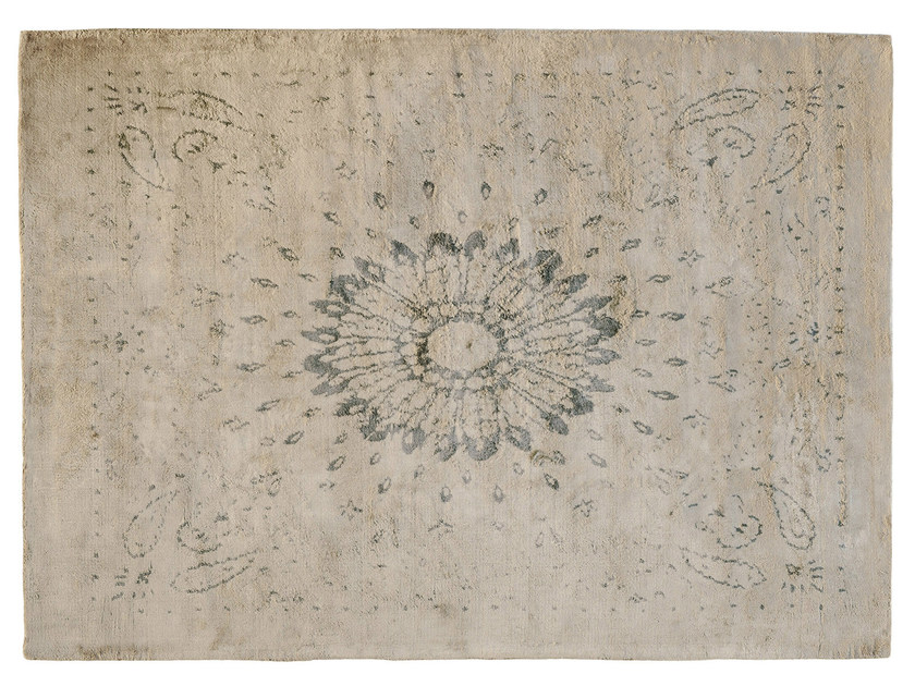Rectangular silk rug SHADOW - Toulemonde Bochart