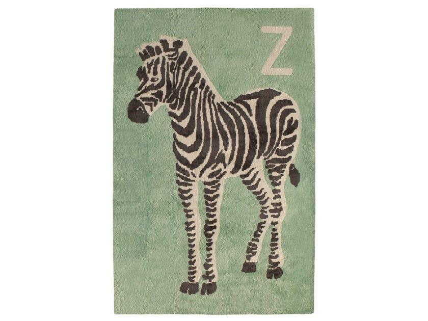 Rectangular cotton kids rug ZEBRE - Toulemonde Bochart