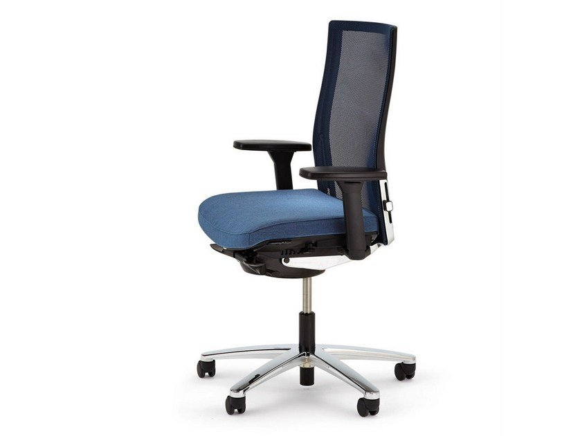 Task chair with 5-Spoke base with armrests with casters OKAY II | Task chair with 5-Spoke base - König + Neurath