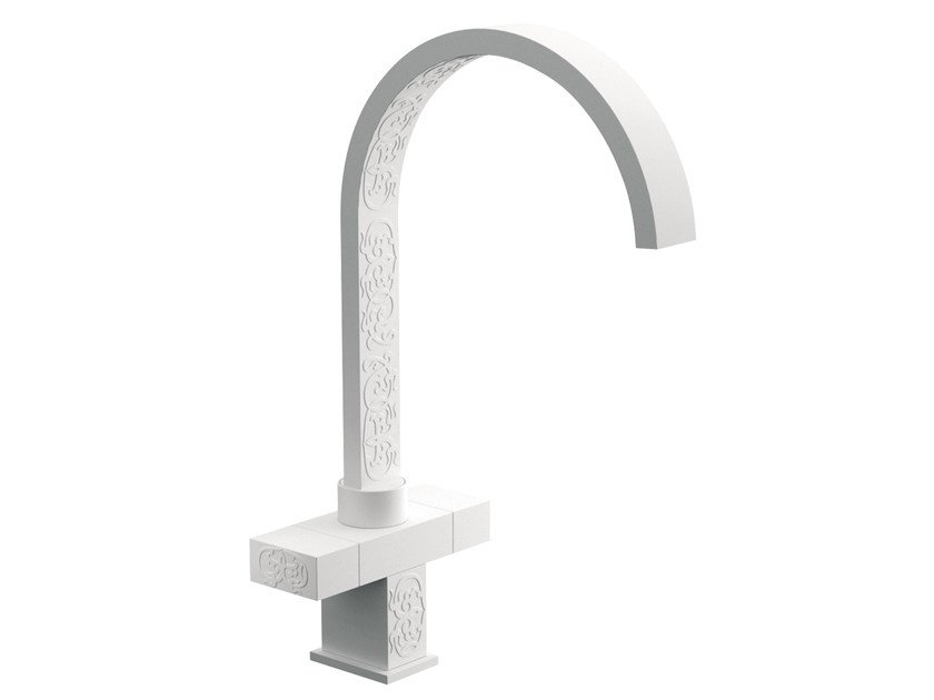 Countertop 1 hole washbasin mixer TWIN DEKORA SENSE | Countertop washbasin mixer - Daniel Rubinetterie