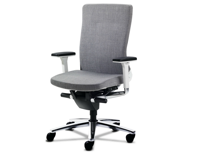 Task chair with 5-Spoke base with armrests LAMIGA | Task chair with armrests - König + Neurath