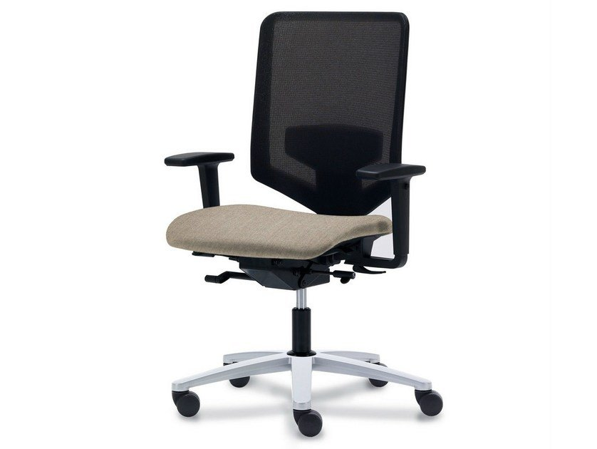 Wire mesh task chair with 5-Spoke base JET.N - König + Neurath