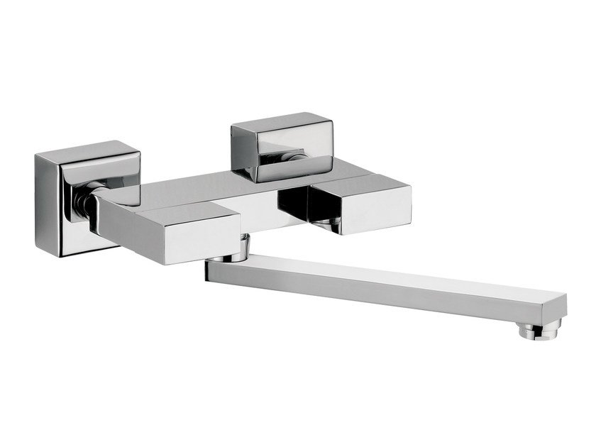 Wall-mounted kitchen mixer tap with swivel spout TWIN | Wall-mounted kitchen mixer tap - Daniel Rubinetterie