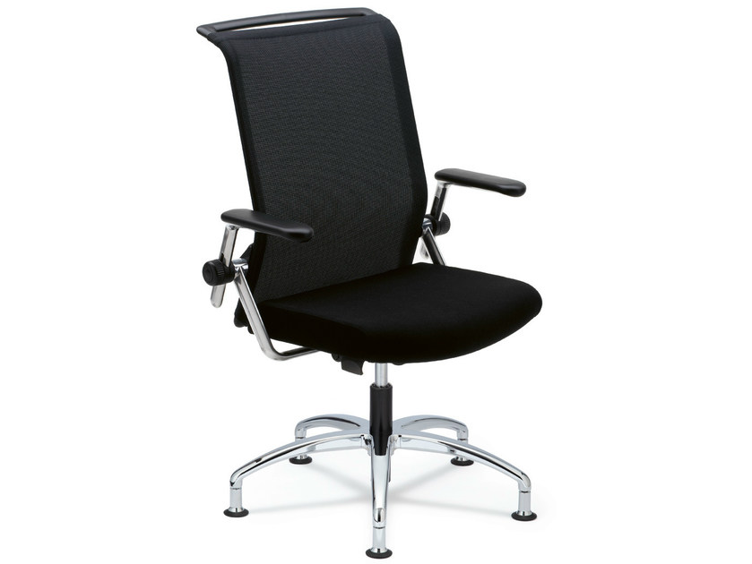 Task chair with 5-Spoke base with armrests KINETA | Task chair - König + Neurath