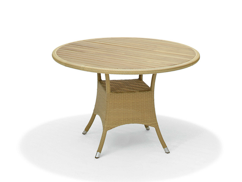 Round teak garden table KRESOS | Round table - Varaschin