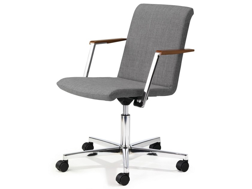 Task chair with 5-Spoke base with armrests with casters PUBLICA - König + Neurath