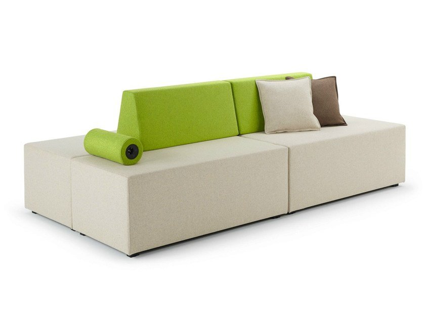 Upholstered modular sofa NET.WORK.PLACE - König + Neurath