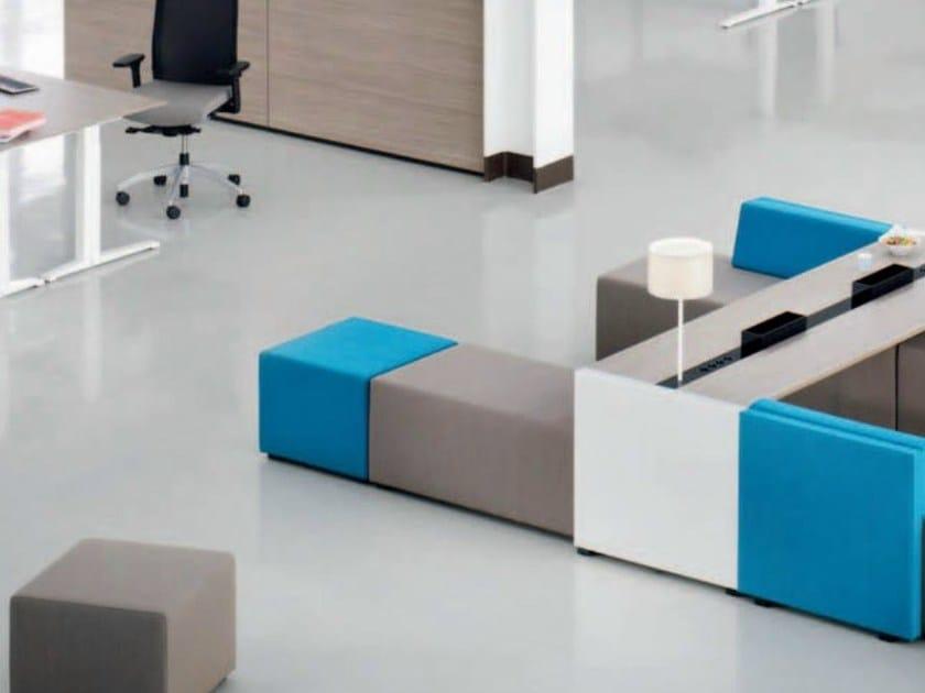Upholstered fabric pouf NET.WORK.PLACE - König + Neurath