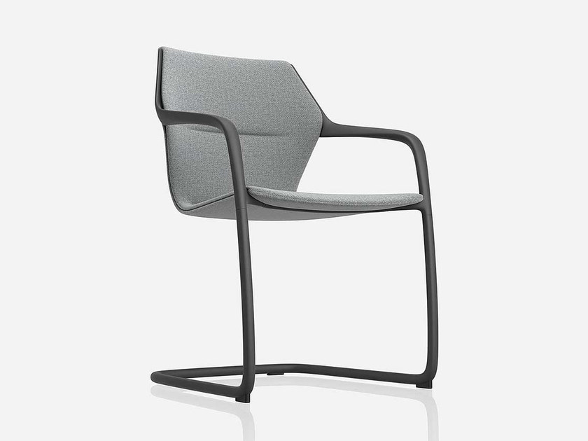 Cantilever ergonomic fabric chair RAY | Fabric chair - Brunner