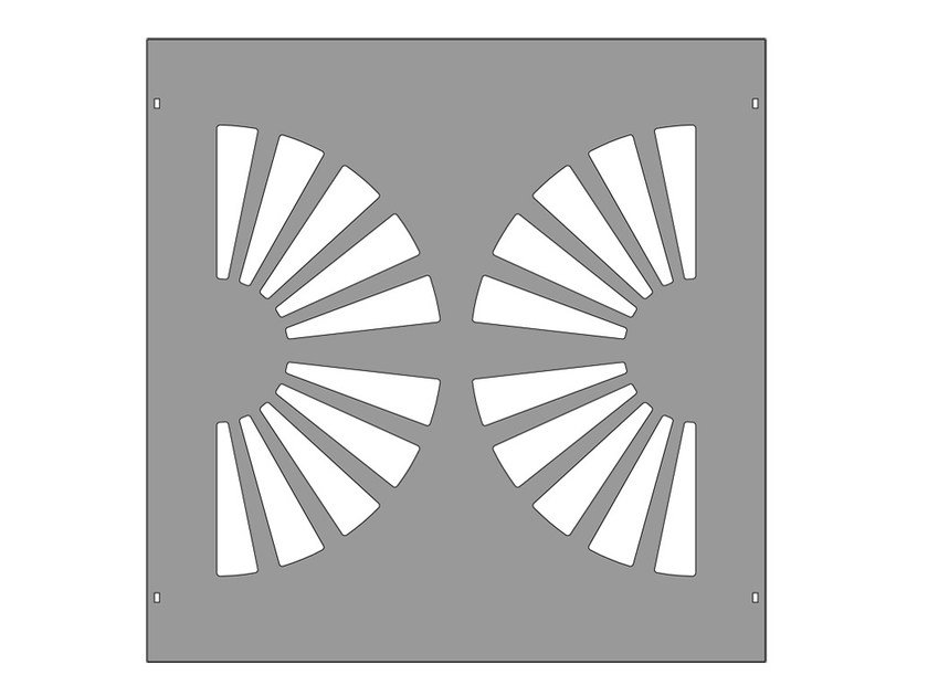 Modular iron Fence PAN.24 - CITYSì recinzioni e cancelli taglio laser