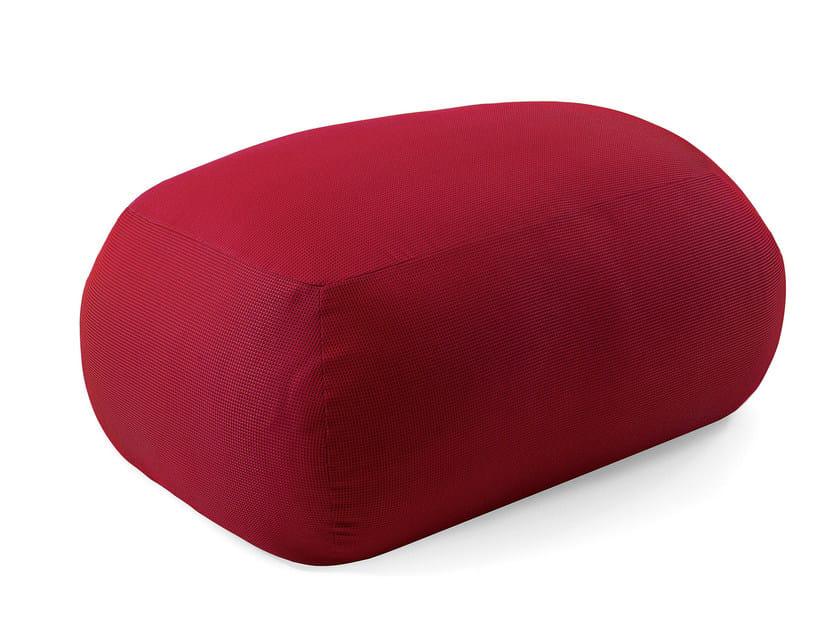 Upholstered fabric garden pouf PEBBLE | Garden pouf - Varaschin