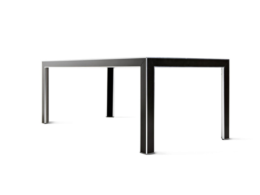 Rectangular aluminium table PLAZA | Rectangular table - Varaschin
