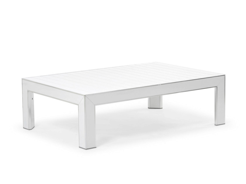 Rectangular aluminium coffee table PLAZA | Rectangular coffee table - Varaschin