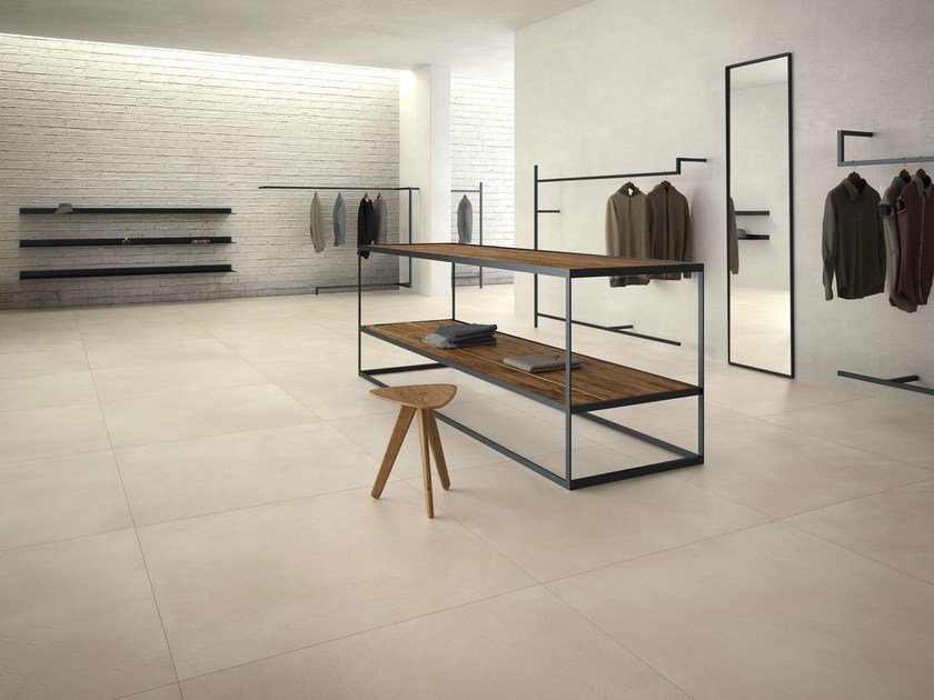 Porcelain stoneware flooring with resin effect CALCE - ARIOSTEA