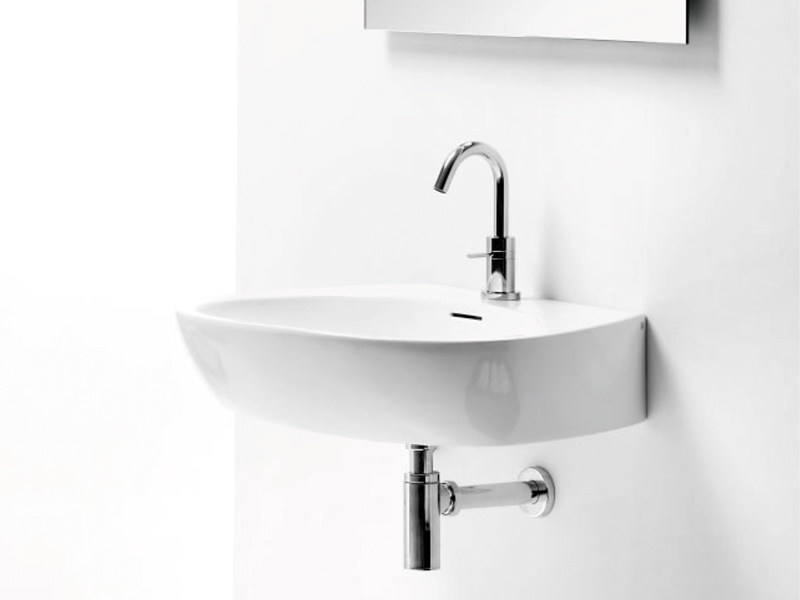 Countertop wall-mounted washbasin OVAL BASIN CR - A. e T. Italia