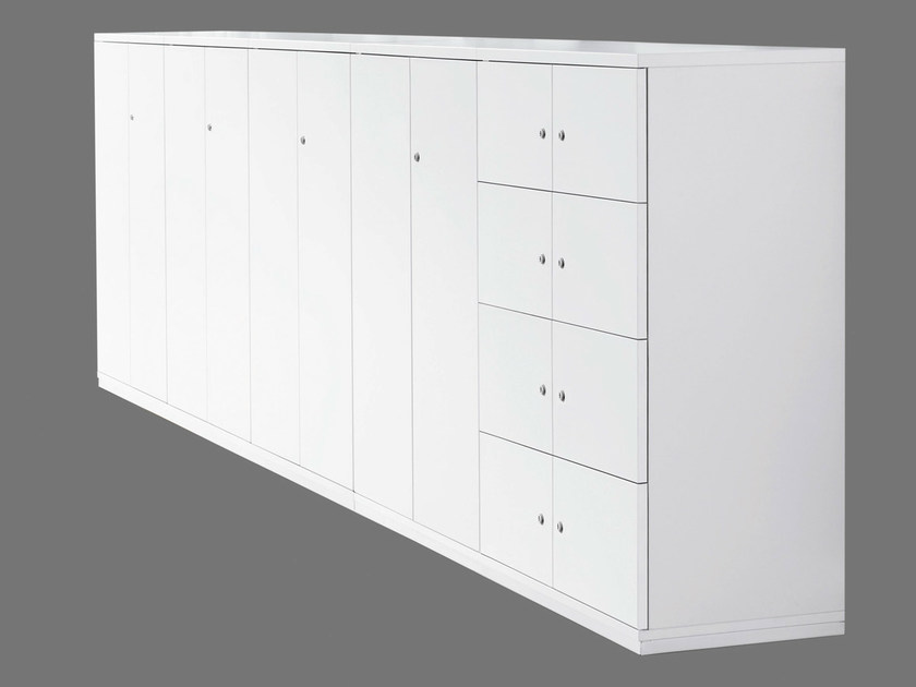 Office storage unit with hinged doors with lock ACTA CLASSIC | Office storage unit - König + Neurath
