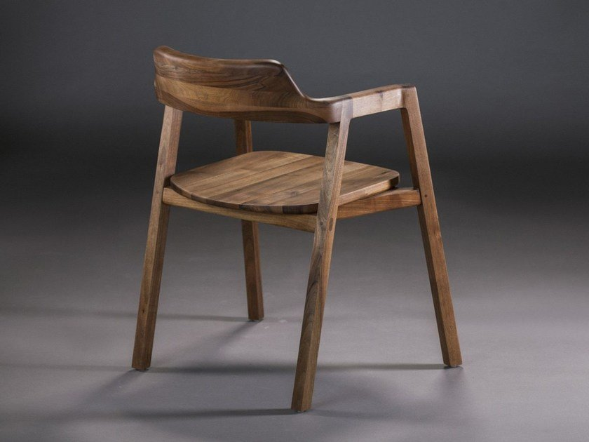 Wooden chair with armrests BURA | Chair - Artisan