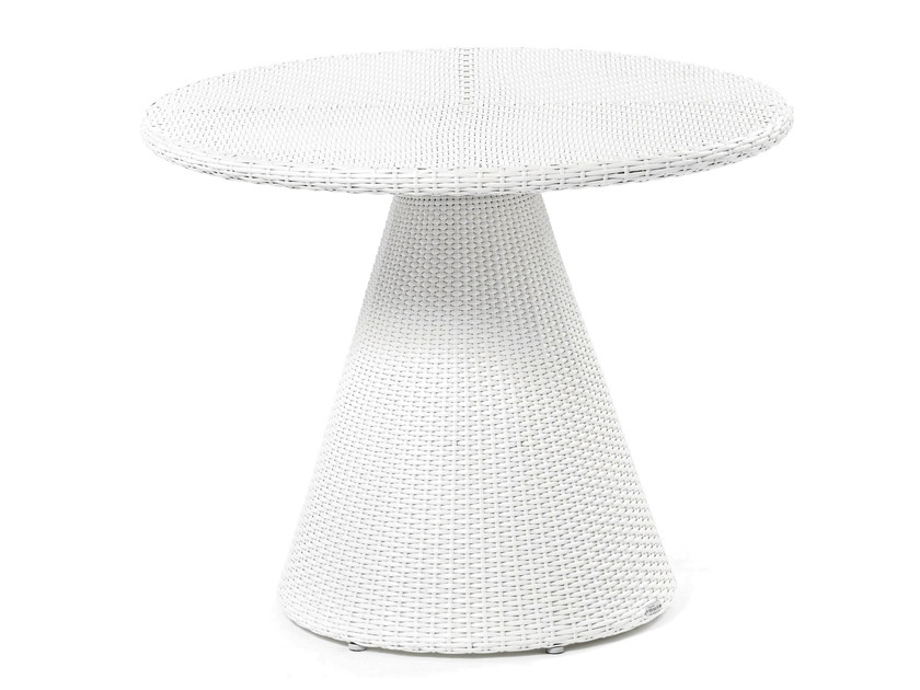 Round table with synthetic fiber weaving TULIP | Table - Varaschin
