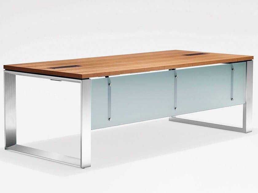 Rectangular wooden office desk PENSO.M - König + Neurath