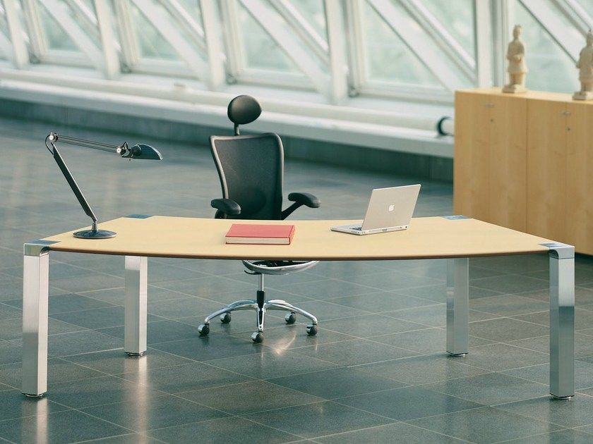 Rectangular wooden office desk CONLINE.M - König + Neurath