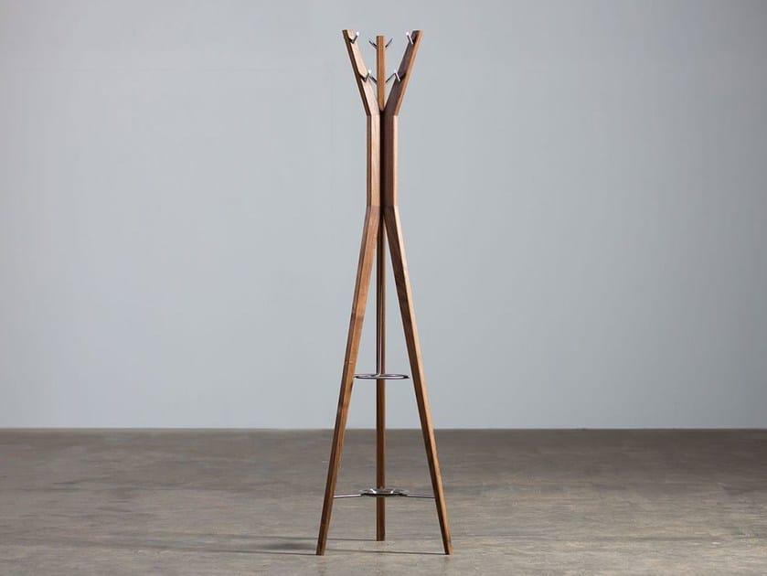Wooden coat stand HANNY | Coat rack - Artisan