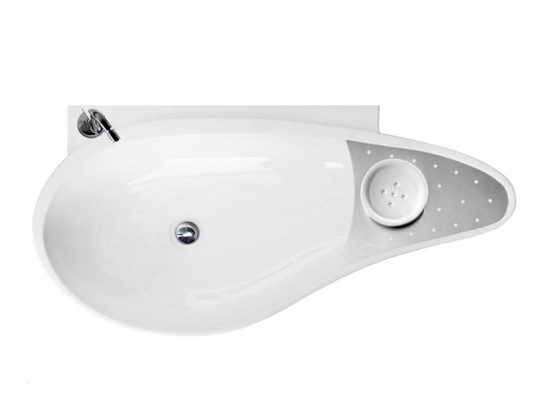 Wall-mounted ceramic washbasin ACCENT BASIN CR by A. e T. Italia
