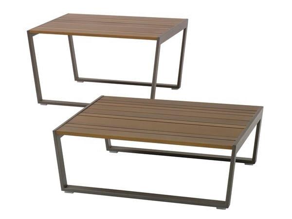 Rectangular Ecolignus® garden side table CALMA | Ecolignus® coffee table - Andreu World