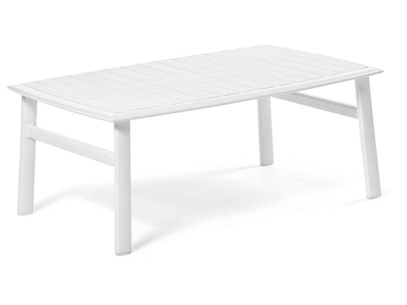 Lacquered rectangular aluminium coffee table VICTOR | Rectangular coffee table by Varaschin
