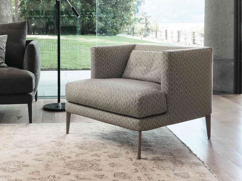 Upholstered armchair with removable cover PARAISO | Armchair by Bonaldo