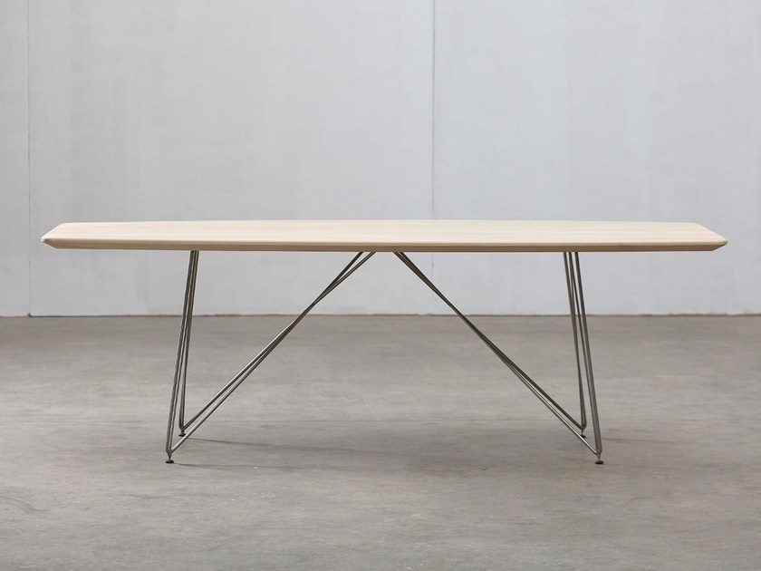Rectangular wooden table LINEA | Table - Artisan