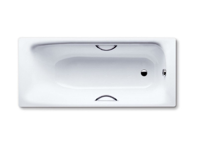 Rectangular built-in enamelled steel bathtub SANILUX STAR - Kaldewei Italia