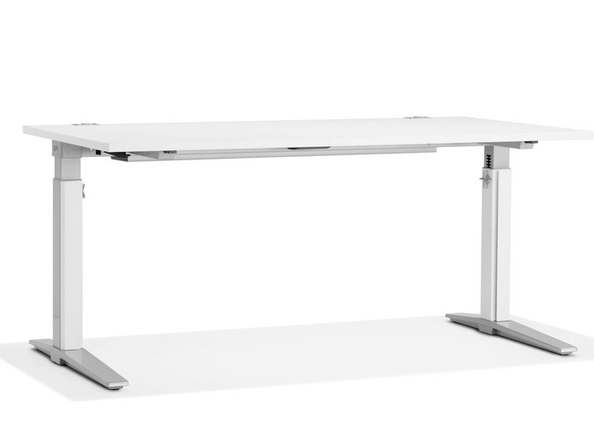 Height-adjustable rectangular workstation desk TALO.S | Height-adjustable office desk - König + Neurath