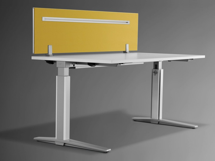 Workstation screen desktop partition TALO.S | Workstation screen desktop partition by König +  Neurath