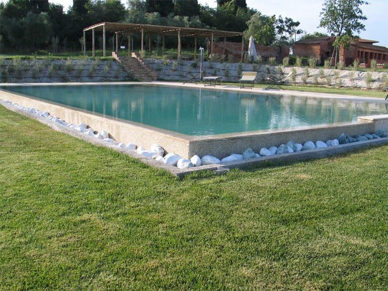 Piscina a sfioro interrata in cemento piscina a sfioro indalo piscine - Piscina in cemento ...